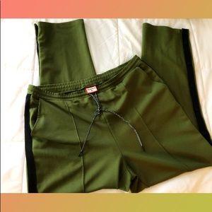 HUNTER for Target:  green side snap track pant